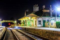 Corfe slottstation Arkivbilder