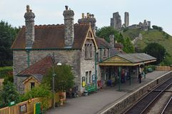 Corfe-Station lizenzfreie stockfotografie