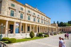 Corfou, Grèce - 16 10 2018 : Vieux Royal Palace St Michael et St George dans la ville de Corfou, Grèce photos libres de droits