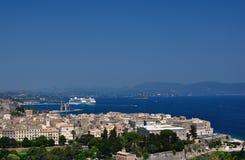 Corfou, seaview Photos stock