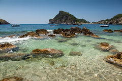 Corfu在希腊 库存图片
