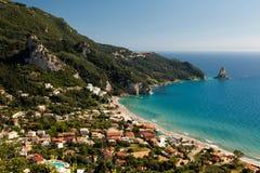 Corfu在希腊 库存照片