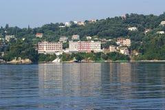 corfu希腊爱奥尼亚人海岛海运 库存照片