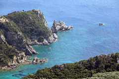 Corfu横向。 地中海,希腊。 免版税库存图片