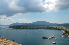 corfu港口 库存照片