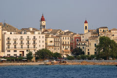 corfu希腊爱奥尼亚人海岛海运 免版税库存照片