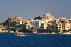 Corfu. City of Kerkyra in Greece royalty free stock image