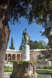 Corfu Adam statue stock images