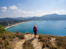 Corfu - Agios Georgios coastline stock images