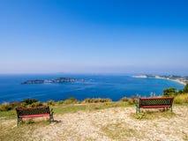 Corfu - Agios Stefanos cape from Afionas. Agios Stefanos cape from Afionas on Corfu Greek island Stock Photography