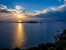 Corfu - Agios Stefanos sunset. Agios Stefanos sunset on Corfu Greek island Royalty Free Stock Image