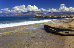 Corfu and the Albanian mountains Royalty Free Stock Photography