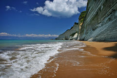 Corfu beach. Beautiful beach on corfu island, greece Stock Images