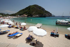 Corfu beach Stock Photography