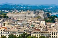 corfu befästningkerkyra Royaltyfria Bilder