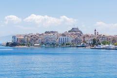 Corfu, capital town of Corfu island Royalty Free Stock Photos