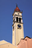 Corfu church bell-tower Royalty Free Stock Photos