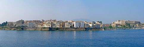 Corfu City. Panoramic view of Corfu City Stock Photos