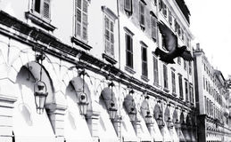 Corfu city BW Royalty Free Stock Images