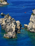 Corfu cliffs 5. High cliffs on the islands Corfu Royalty Free Stock Photos