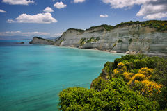 Corfu coast. Coast near cape drastis on corfu island, greece Royalty Free Stock Photo