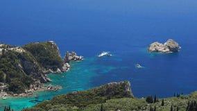 Corfu coastline stock footage
