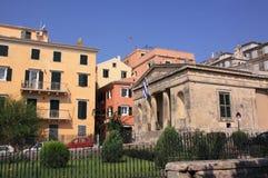 Corfu Colorful facades Royalty Free Stock Photo