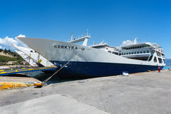 The Corfu  ferry Royalty Free Stock Images