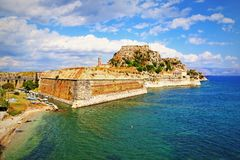 Corfu forteca Grecja zdjęcie stock