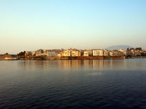 corfu gammal town Arkivbild