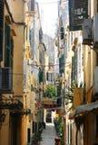 corfu gata Fotografering för Bildbyråer