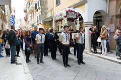 CORFU, GREECE - APRIL 29, 2016: The epitaph processions of Good Friday in Corfu, Greece. Stock Photo