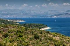 Corfu in Greece. Beautiful island Corfu in Greece Stock Photos