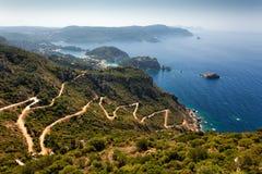 Corfu in Greece. Beautiful island Corfu in Greece Stock Image