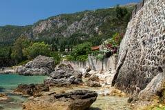 Corfu in Greece. Beautiful island Corfu in Greece Royalty Free Stock Photos