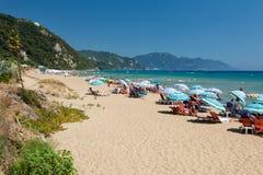 Corfu in Greece. Beautiful island Corfu in Greece Royalty Free Stock Images