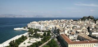 Corfu in Greece. City of Corfu in Greece Royalty Free Stock Photo