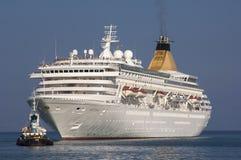 CORFU/GREECE- Cruise Ship Artemis entering por Stock Photography