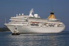 CORFU/GREECE  Cruise Ship Artemis entering por Stock Photos