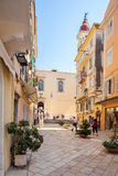 CORFU, GREECE - JULY 1, 2011: Tourists enter in the Cathedral of Royalty Free Stock Photography