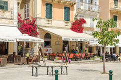 The Liston in Corfu, with its fashionable cafes Royalty Free Stock Photography