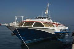 CORFU/GREECEHydrofoil in Corfu Harbour Royalty Free Stock Photo