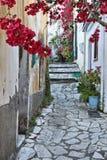 Corfu Greek village Stock Photo