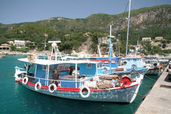 Corfu harbour in Kassiopi Royalty Free Stock Photos