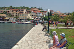 Corfu harbour in Kassiopi Royalty Free Stock Photography
