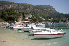 Corfu harbour in Kerkyra Stock Image