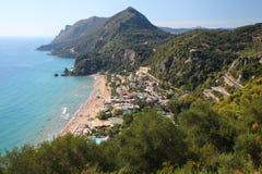 Corfu i Grekland royaltyfria foton