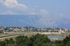 Corfu International Airport Royalty Free Stock Photo