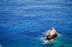 Corfu Island. Single rock on Ionian Sea near Paleokastritsa on Corfu Island in Greece Stock Image