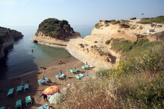 Corfu island beach Royalty Free Stock Photography